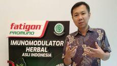 Irwan Wijaya - Senior Manager Category of Kalbe Consumer Health Dalam Peluncuran Fatigon Promuno Imunomodulator Herbal Asli Indonesia