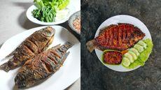 Mana yang Lebih Sehat, Ikan Nila (Kiri) atau Gurame (Kanan) untuk Ibu Hamil?